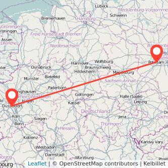 Düsseldorf Potsdam Mitfahrgelegenheit Karte
