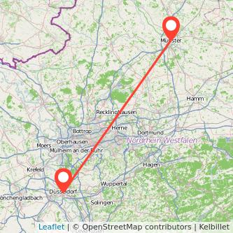 Düsseldorf Münster Mitfahrgelegenheit Karte