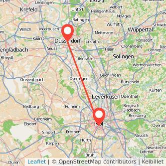 Düsseldorf Köln Bahn Karte