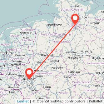 Düsseldorf Hamburg Bahn Karte