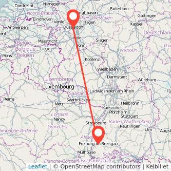Düsseldorf Freiburg im Breisgau Mitfahrgelegenheit Karte