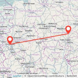 Düsseldorf Dessau Mitfahrgelegenheit Karte