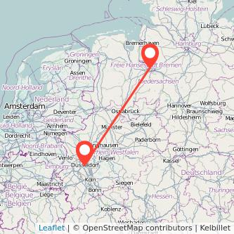 Düsseldorf Bremen Bus Karte