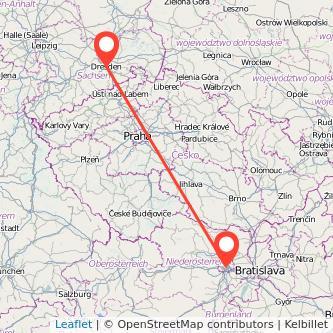 Dresden Wien Bahn Karte