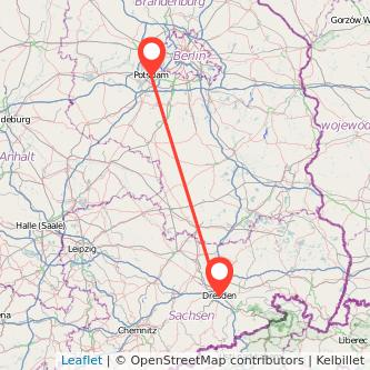 Dresden Potsdam Mitfahrgelegenheit Karte
