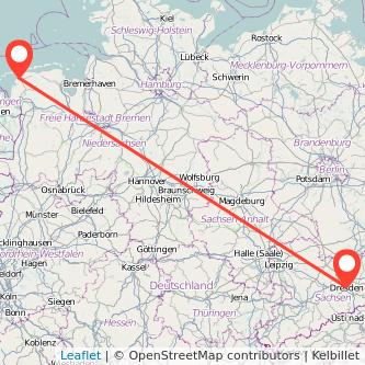 Dresden Norddeich Bahn Karte