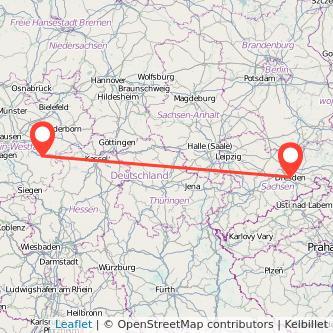 Dresden Meschede Mitfahrgelegenheit Karte