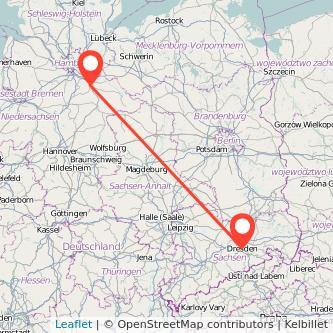 Dresden Lüneburg Bahn Karte