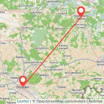 Dresden Hoyerswerda Mitfahrgelegenheit Karte
