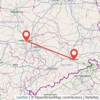 Dresden Halle Mitfahrgelegenheit Karte