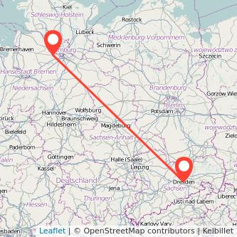 Dresden Buxtehude Mitfahrgelegenheit Karte