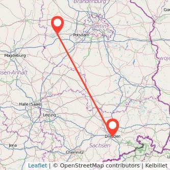 Dresden Brandenburg an der Havel Mitfahrgelegenheit Karte
