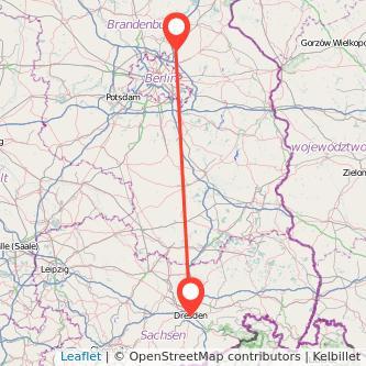 Dresden Bernau bei Berlin Mitfahrgelegenheit Karte