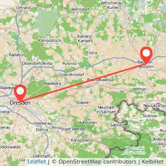 Dresden Bautzen Mitfahrgelegenheit Karte