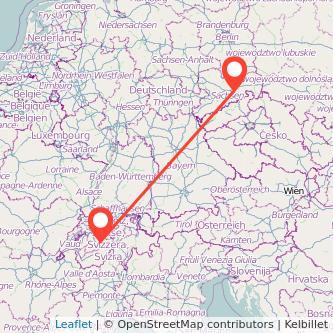 Dresden Interlaken Bahn Karte