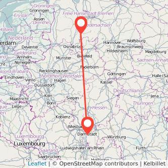 Entfernung Mannheim Darmstadt