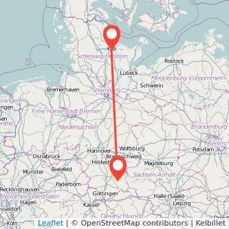 Clausthal-Zellerfeld Kiel Bus Karte