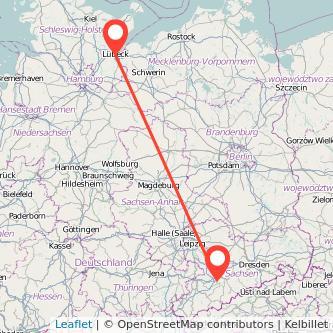 Chemnitz Lübeck Bus Karte