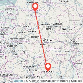 Bremen Würzburg Bahn Karte