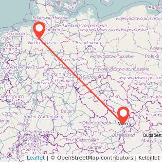 Bremen Wien Bahn Karte