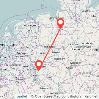 Bremen Remscheid Bus Karte