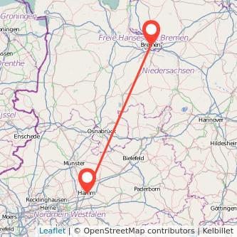 Bremen Hamm Bahn Karte
