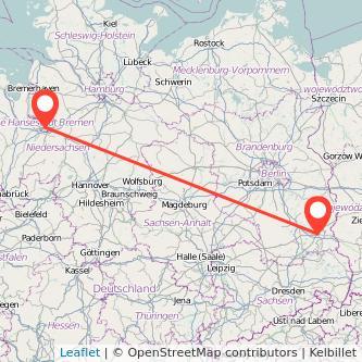 Bremen Cottbus Bus Karte