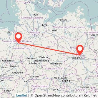 Bremen Berlin Bahn Karte