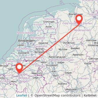 Bremen Brüssel Mitfahrgelegenheit Karte