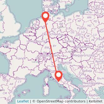 Bremen Rom Bahn Karte