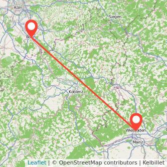 Bonn Wiesbaden Mitfahrgelegenheit Karte