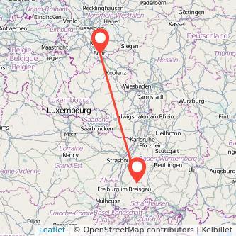 Bonn Triberg Bahn Karte