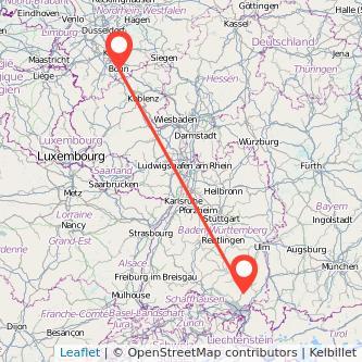 Bonn Ravensburg Bahn Karte
