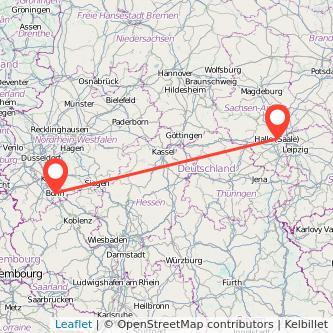 Bonn Halle Bahn Karte