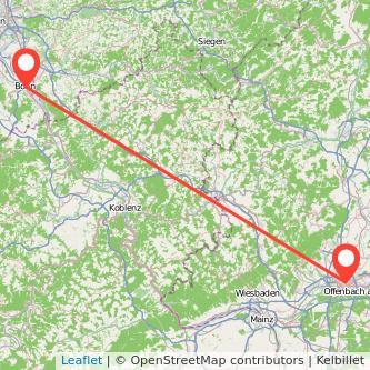 Bonn Frankfurt am Main Bahn Karte