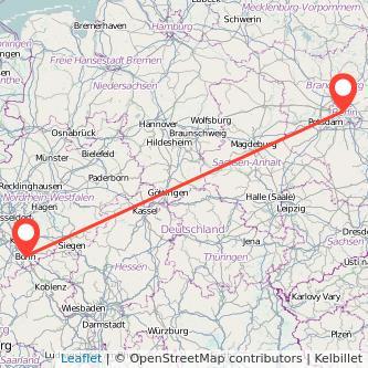 Bonn Berlin Mitfahrgelegenheit Karte