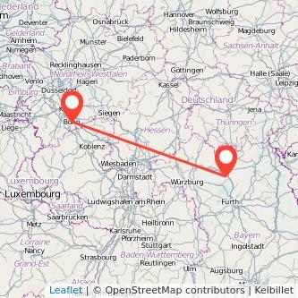 Bonn Bamberg Bahn Karte