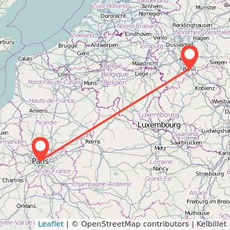 Bonn Paris Mitfahrgelegenheit Karte