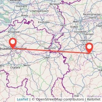 Bonn Brüssel Mitfahrgelegenheit Karte