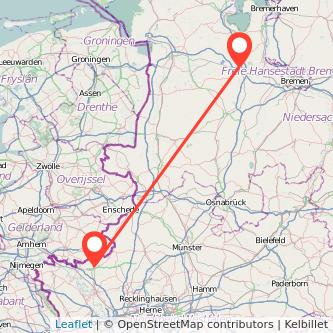 Bocholt Oldenburg Bus Karte