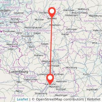 Bielefeld Karlsruhe Bus Karte