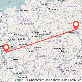 Berlin Wuppertal Bahn Karte