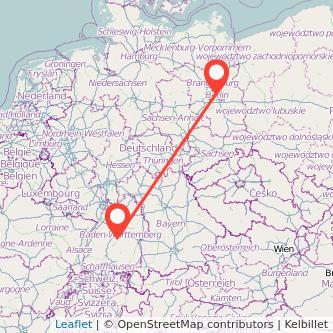 Berlin Tübingen Mitfahrgelegenheit Karte