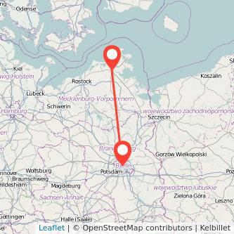 Berlin Stralsund Bus Karte