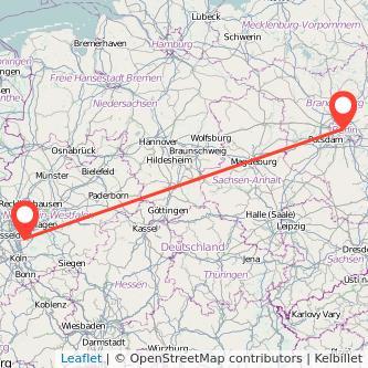 Berlin Solingen Bahn Karte