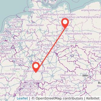 Berlin Reutlingen Mitfahrgelegenheit Karte