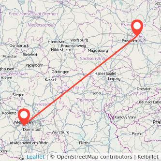 Berlin Mainz Mitfahrgelegenheit Karte