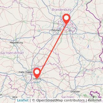 Berlin Leipzig Bahn Karte