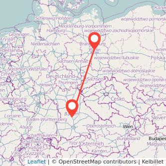 Berlin Ingolstadt Bus Karte