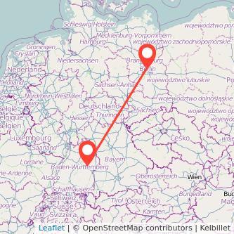 Berlin Göppingen Mitfahrgelegenheit Karte